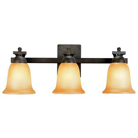 home depot bathroom lights electric 3 light rustic iron vanity light with
