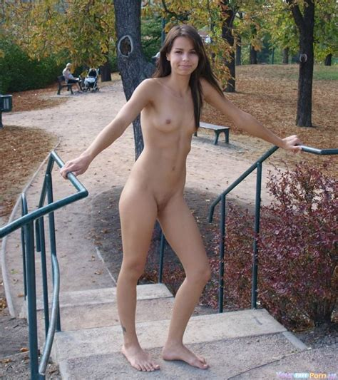 Hot Brunette Nude In The Park Notice The Mom In The Back