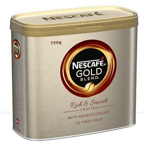 When drinking coffee, we rarely read the description and only grab a pack that we know will taste good based on the previous like many popular commercial instant coffee or even coffee grounds, this is a dark roast which supposed to give full body, stronger taste with less acidity. Nescafe Gold Blend Arabica Ground Robusta Beans Instant Coffee Granules Tin 750g 7613035301665 ...