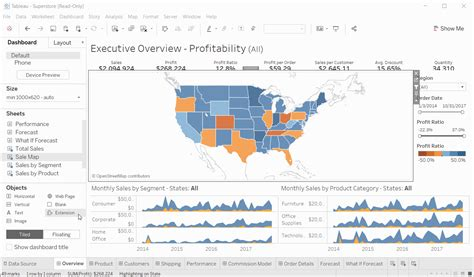 use dashboard extensions tableau