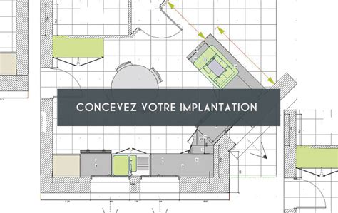 plan implantation cuisine modele agencement cuisine cuisine disposition en parallle