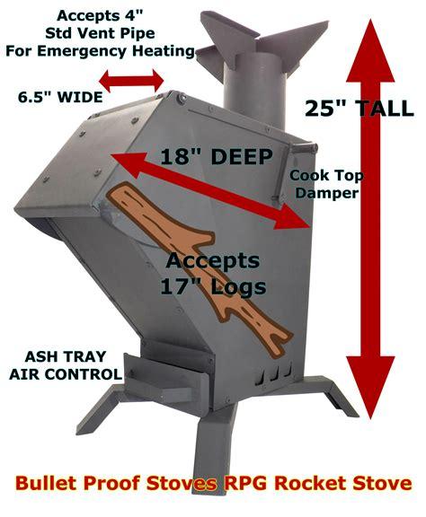 bullet proof rpg gasifier rocket stove  heater