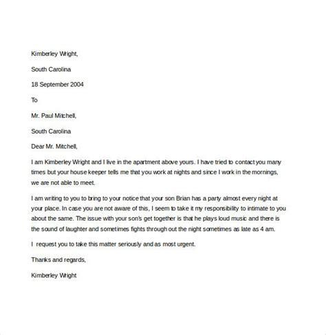 noise complaint letter templates  sample