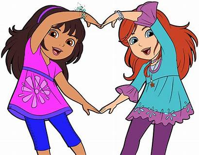 Friends Clipart Cartoon Friendship Friend Clip Dora