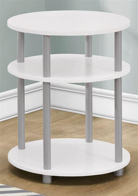 white round accent table white round accent table 3132 monarch