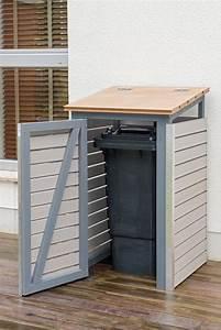 Mülltonnenverkleidung Selber Bauen : m lltonnenbox selber bauen endzustand mit offener t r ~ Watch28wear.com Haus und Dekorationen