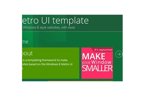 html metro template free download