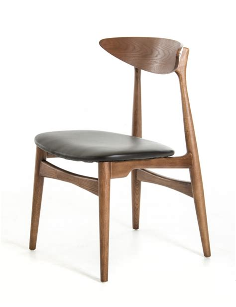 anson modern walnut and black dining chair set of 2