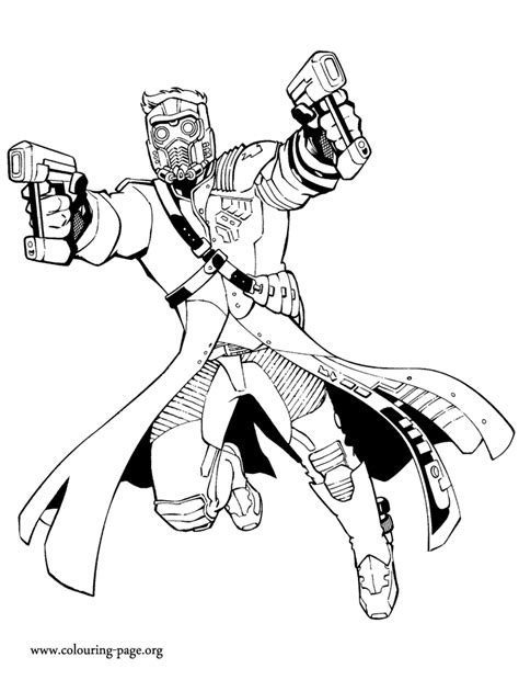 guardians   galaxy star lord coloring page