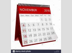Calendar 2018 Stock Photos & Calendar 2018 Stock Images