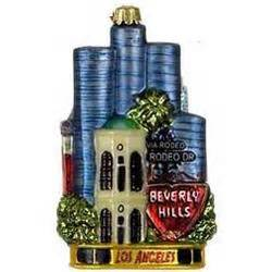 los angeles personalized christmas ornament findgift com