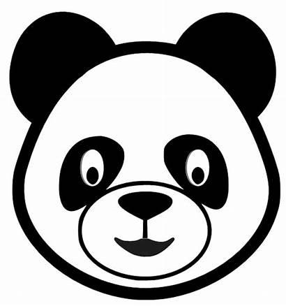 Panda Head Clipart Bear Face Drawing Cliparts
