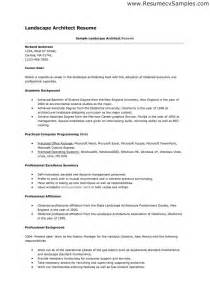 landscape designer resume sle sle of landscape architect resume a saved is a earned resume