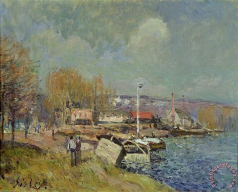 alfred sisley the seine at port marly painting the seine