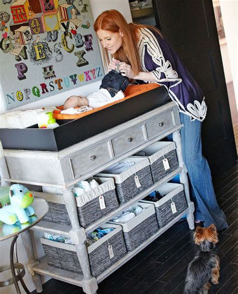 changing table organization ideas baby changing table with organized storage ideas