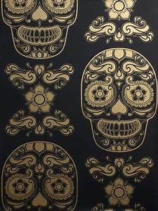 Gold Skull Wallpaper : 12 best images about wallpaper on pinterest cute wallpapers skull wallpaper and day of the dead ~ Markanthonyermac.com Haus und Dekorationen