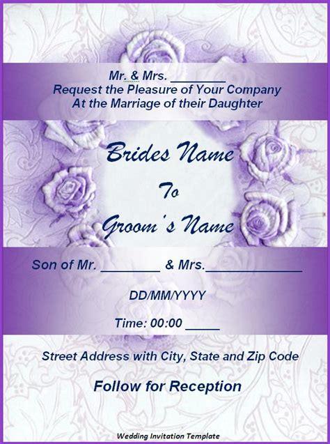 wedding invitation template  word templates