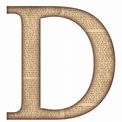Letter Clipart Alphabet Scrapbook Capital Template Transparent