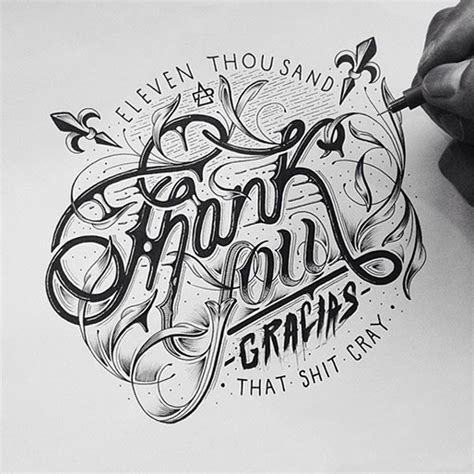 beautiful hand lettering typography  raul alejandro