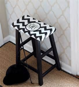 DIY Monogram Stool