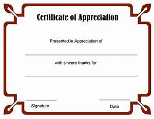 Blank Certificate Templates to Print | Activity Shelter
