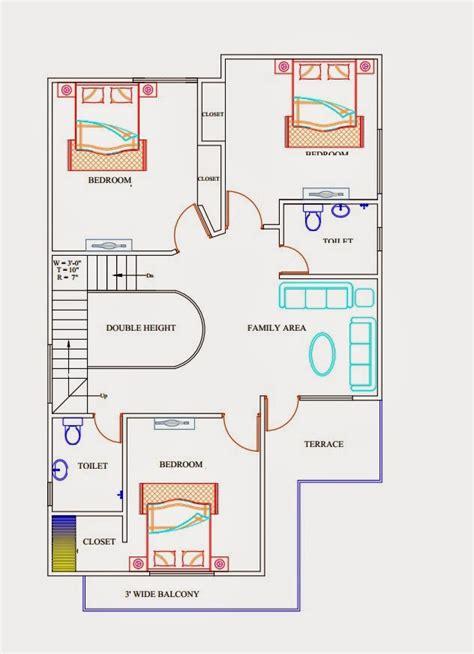 triplex house plan   sq ft ghar planner