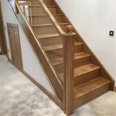 oak staircase and glass balustrade by snowdrop