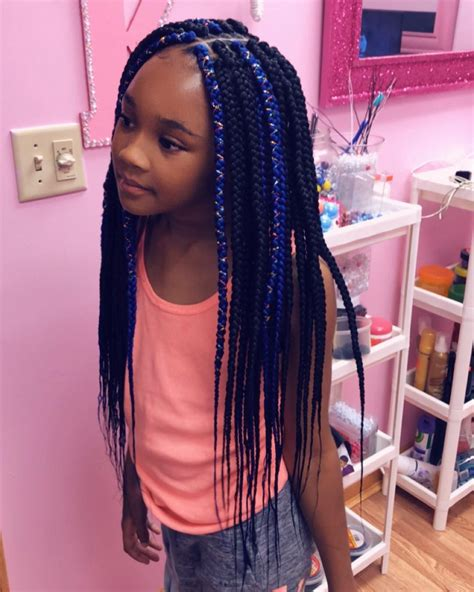 42 Best Box Braids Hairstyles Kids Images in Aug 2020