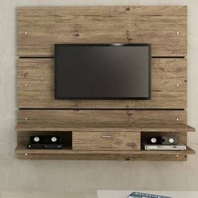 wood tv wall mount house  tv wand wohnzimmer