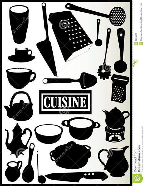assortiment des ustensiles de cuisine photo libre de droits image 3206575