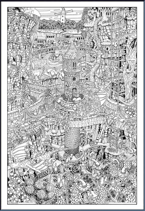 coloring posters detailed artwork posters colouring color in coloring