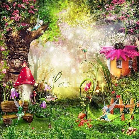 fairytale wonderland enchanted forest background  tree
