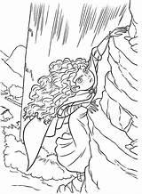 Merida Coloring Cliff Climb Disney Vertical Princess Colorluna Brave Printable Luna Cartoon Activity sketch template