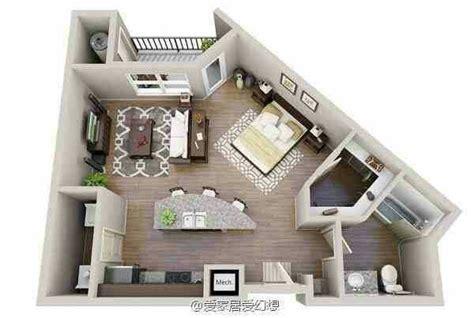 floor plan  irregular shaped apartment studio