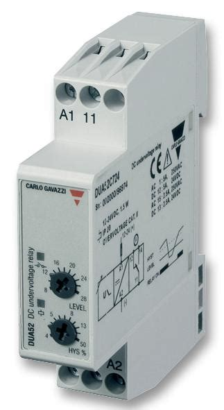 duac carlo gavazzi voltage monitoring relay dua