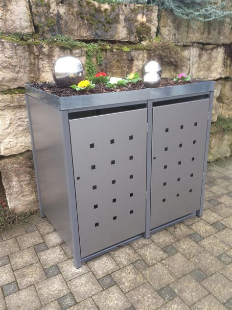 Mülltonnenboxen Aus Metall Langlebig Und Schön
