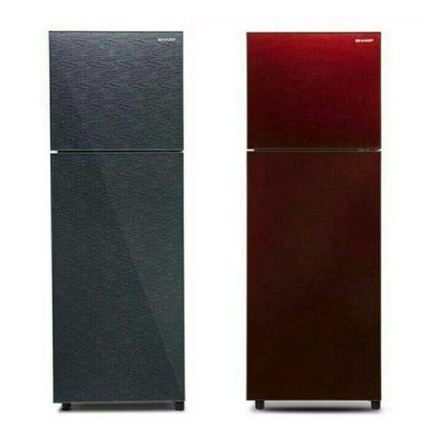 jual new kulkas 2 pintu sharp sjx 326xg sg sr di lapak forest store majuterus093