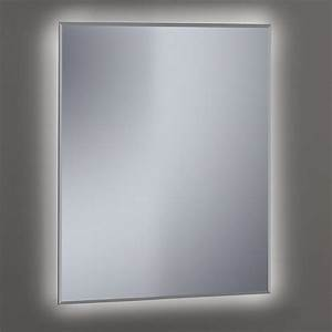 miroir lumineux salle de bain biseaute 60 a 120cm khan With miroir salle de bain 120 x 80