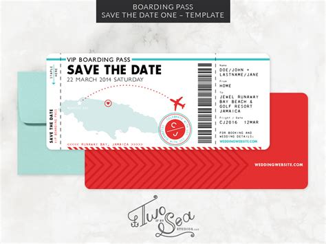 Boarding Pass Template Boarding Pass Save The Date Template Invitation