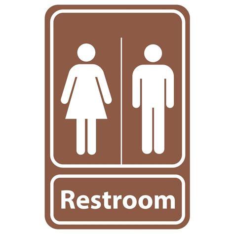 Rectangular Plastic Restroom Signpse0057  The Home Depot
