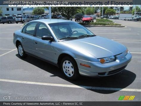 Silver Blue  2002 Saturn S Series Sl1 Sedan Gray