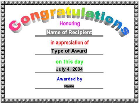 congratulations template award certificates award certificate gift certificate template gift certificate templates