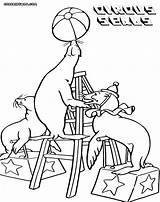 Seal Coloring Pages Circus Seals sketch template