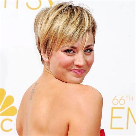 Kaley Cuoco Short Hair Pixie Cut
