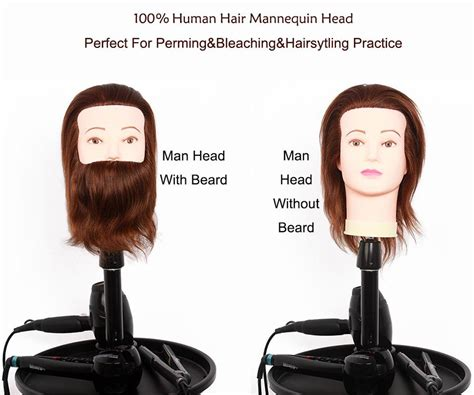 2017 Male Mannequin Heads With Hair Man Gent Training Head
