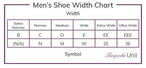 039a3f031e Mens Shoe Width Chart