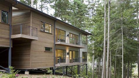 hillside cabin plans hillside house plans with drive garage steep