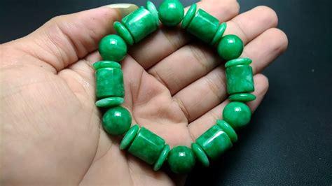 gelang batu giok jade hijau asli kode 904 wahyu mulia