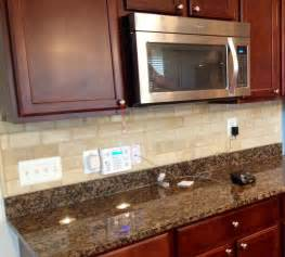 Travertine Kitchen Backsplash Beveled Travertine Subway Tile Backsplash