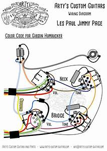 Les Paul Jimmy Page Style Wiring Harness Mit Bumblebee Caps